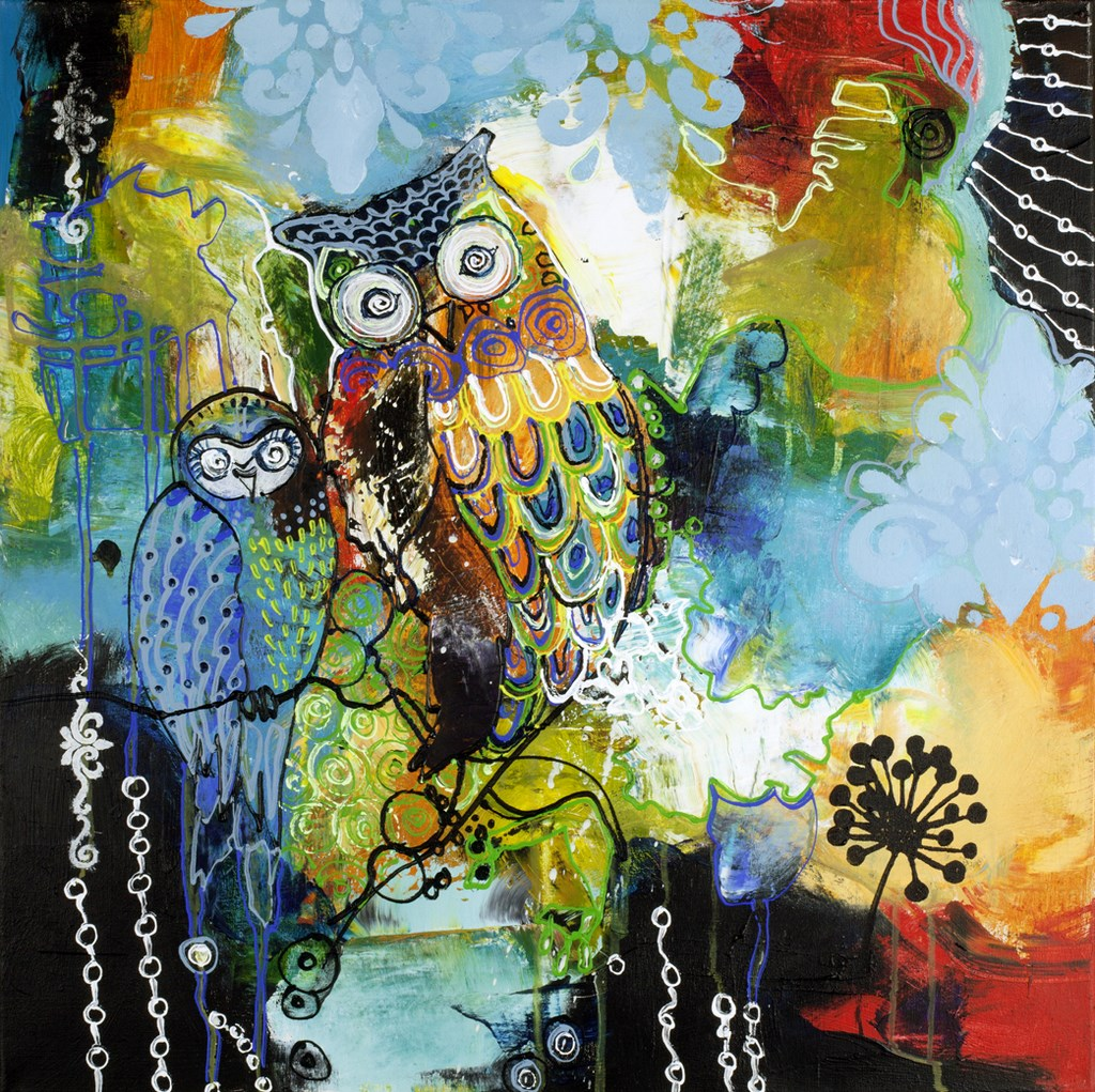 BLUE OWL - Original Paintings - wymiary 100x100cm