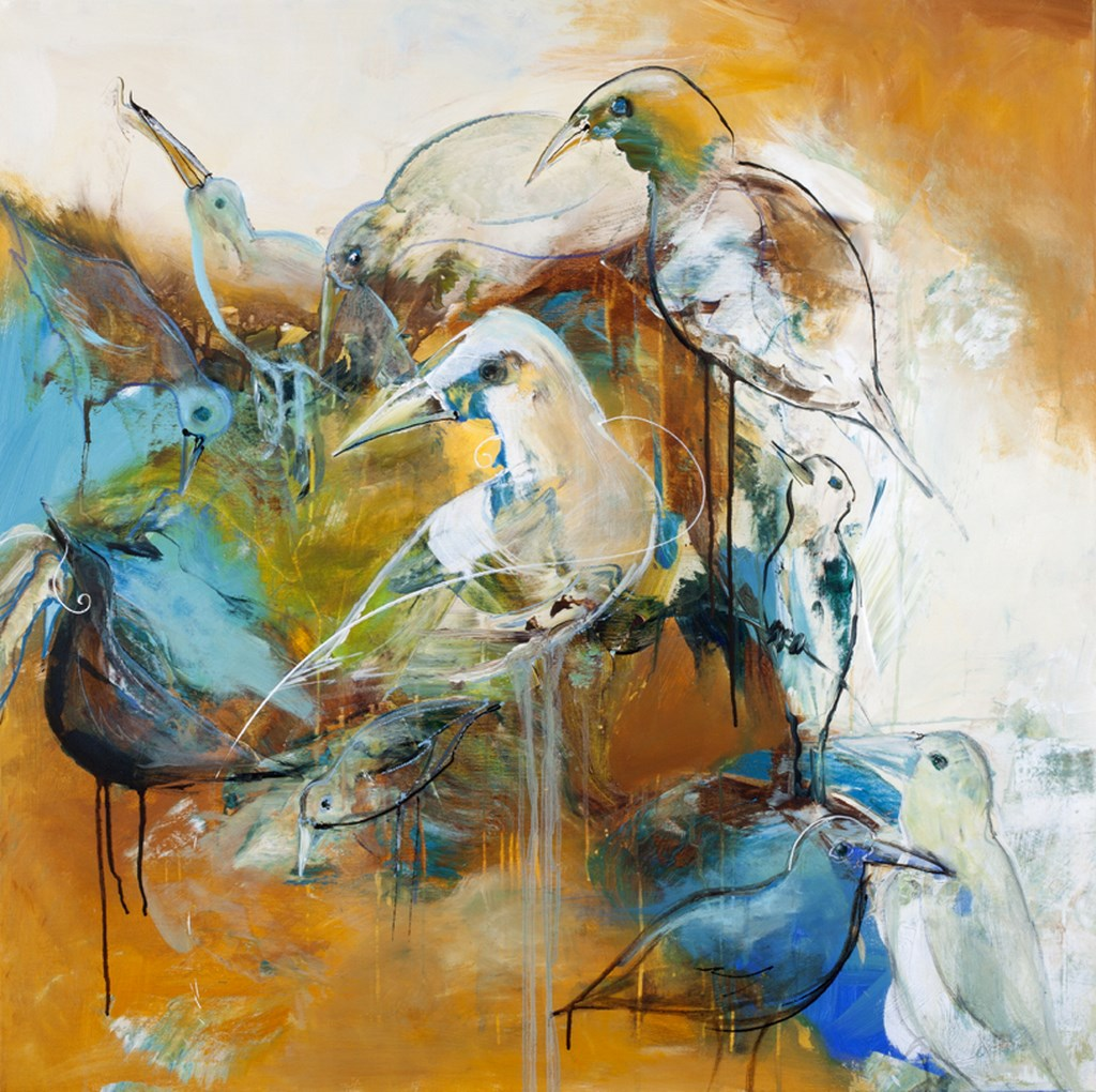 TURTLEDOVE 1 - Original Paintings - wymiary 100x100cm